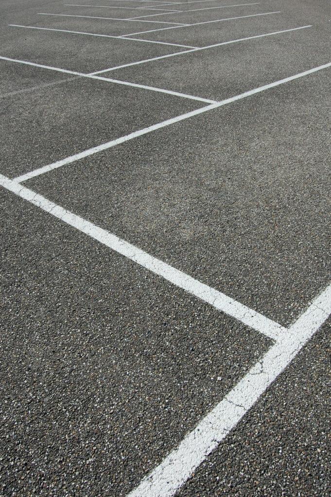 Opmærkning parkeringsplads parkeringsløsning